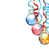 Χριστούγεννα και νέες διακοσμήσεις δέντρων έτους Στοκ Εικόνες