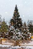 Χριστούγεννα και νέος χρόνος στη Μόσχα στον κόκκινο γαιοκτήμονα στοκ φωτογραφίες