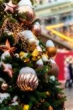 Χριστούγεννα και νέος χρόνος στη Μόσχα στον κόκκινο γαιοκτήμονα στοκ φωτογραφία με δικαίωμα ελεύθερης χρήσης