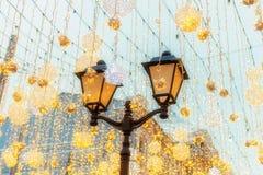 Χριστούγεννα και νέος χρόνος στη Μόσχα στον κόκκινο γαιοκτήμονα στοκ εικόνες