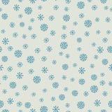 Χριστούγεννα και νέο άνευ ραφής σχέδιο έτους με snowflakes Στοκ φωτογραφία με δικαίωμα ελεύθερης χρήσης