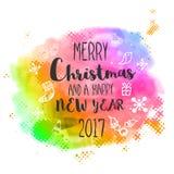 Χριστούγεννα και νέο έμβλημα εορτασμών κόμματος έτους Στοκ εικόνες με δικαίωμα ελεύθερης χρήσης