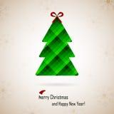 Χριστούγεννα και νέο έτος. Διανυσματική ευχετήρια κάρτα Στοκ Φωτογραφία