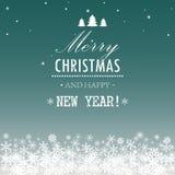 Χριστούγεννα και νέο έτος. Διανυσματική ευχετήρια κάρτα Στοκ εικόνα με δικαίωμα ελεύθερης χρήσης