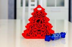 Χριστούγεννα και νέο έτος, κόσμημα, δέντρο, σύμβολα Στοκ Εικόνα