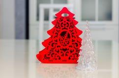 Χριστούγεννα και νέο έτος, κόσμημα, δέντρο, σύμβολα Στοκ Εικόνες