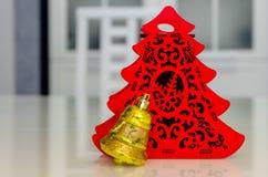 Χριστούγεννα και νέο έτος, κόσμημα, δέντρο, σύμβολα Στοκ Φωτογραφίες