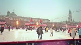 Χριστούγεννα και νέο έτος στη Μόσχα απόθεμα βίντεο