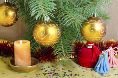 Χριστούγεννα και νέο έτος Στοκ Φωτογραφία