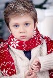 Χριστούγεννα και νέο αγόρι έτους Στοκ Εικόνα