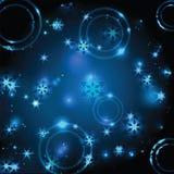 Χριστούγεννα και νέο λαμπυρίζοντας υπόβαθρο έτους Στοκ Φωτογραφία