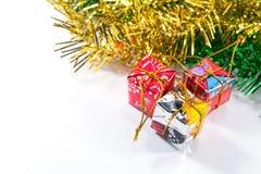 Χριστούγεννα και νέο κιβώτιο δώρων έτους Στοκ Εικόνα