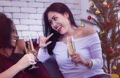 Χριστούγεννα και νέο κόμμα έτους στοκ εικόνα