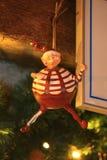 Χριστούγεννα και νέο παιχνίδι διακοσμήσεων έτους διακοσμητικό στο αναδρομικό ύφος στοκ εικόνα