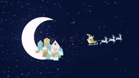Χριστούγεννα και νέο πρότυπο καρτών πόλεων έτους διανυσματική απεικόνιση