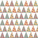 Χριστούγεννα και νέο πρότυπο σχεδίων έτους άνευ ραφής επίσης corel σύρετε το διάνυσμα απεικόνισης Στοκ Εικόνες