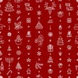 Χριστούγεννα και νέο σχέδιο έτους Στοκ φωτογραφία με δικαίωμα ελεύθερης χρήσης