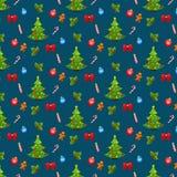 Χριστούγεννα και νέο υπόβαθρο έτους. Άνευ ραφής σχέδιο Στοκ εικόνα με δικαίωμα ελεύθερης χρήσης