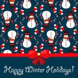 Χριστούγεννα και νέο υπόβαθρο έτους. Άνευ ραφής σχέδιο Στοκ Εικόνες