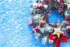 Χριστούγεννα και νέο υπόβαθρο έτους Στοκ Εικόνα