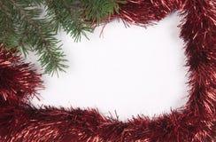 Χριστούγεννα και νέο υπόβαθρο συνόρων πλαισίων έτους Στοκ Εικόνες