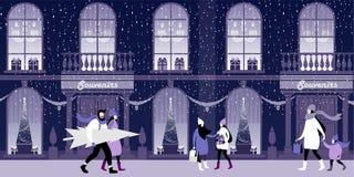 Χριστούγεννα και Παραμονή Πρωτοχρονιάς ελεύθερη απεικόνιση δικαιώματος