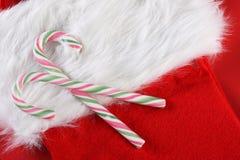 Χριστούγεννα καλάμων καρ&a στοκ φωτογραφία