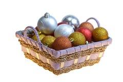 Χριστούγεννα καλαθιών σφ Στοκ εικόνα με δικαίωμα ελεύθερης χρήσης