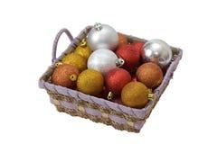 Χριστούγεννα καλαθιών σφ Στοκ φωτογραφίες με δικαίωμα ελεύθερης χρήσης