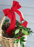 Χριστούγεννα καλαθιών Στοκ εικόνα με δικαίωμα ελεύθερης χρήσης