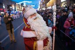 Χριστούγεννα καρναβάλι στην προοπτική Nevsky Στοκ Φωτογραφίες
