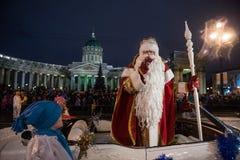 Χριστούγεννα καρναβάλι στην προοπτική Nevsky Στοκ φωτογραφίες με δικαίωμα ελεύθερης χρήσης