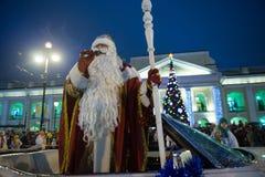 Χριστούγεννα καρναβάλι στην προοπτική Nevsky Στοκ Εικόνα