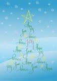 Χριστούγεννα καρτών ανασ&kapp Στοκ Εικόνα