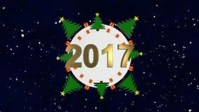 Χριστούγεννα καρτών απλά απόθεμα βίντεο