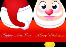 Χριστούγεννα καρτών εύθυμ Στοκ φωτογραφία με δικαίωμα ελεύθερης χρήσης