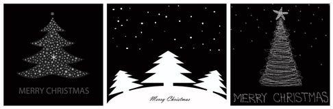 Χριστούγεννα καρτών εύθυμ Διανυσματική απεικόνιση