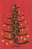 Χριστούγεννα καρτών που εμφανίζουν δέντρο Στοκ Φωτογραφία
