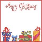Χριστούγεννα καρτών που χ&a Στοκ εικόνα με δικαίωμα ελεύθερης χρήσης