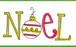 Χριστούγεννα καρτών χειρ&omic Στοκ Εικόνα