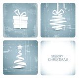 Χριστούγεννα καρτών grunge απλά απεικόνιση αποθεμάτων