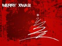 Χριστούγεννα καρτών grunge Στοκ φωτογραφία με δικαίωμα ελεύθερης χρήσης