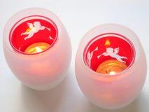 Χριστούγεννα κατόχων κεριών στοκ εικόνες