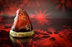 Χριστούγεννα κεριών Άγιου Βασίλη Στοκ φωτογραφία με δικαίωμα ελεύθερης χρήσης