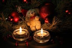 Χριστούγεννα κεριών ανασ&k Στοκ φωτογραφία με δικαίωμα ελεύθερης χρήσης