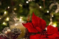 Χριστούγεννα κεριών διακοσμήσεων Στοκ εικόνα με δικαίωμα ελεύθερης χρήσης