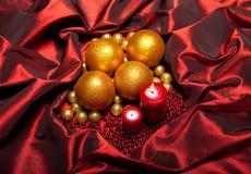 Χριστούγεννα κεριών μπιχλ Στοκ Φωτογραφία