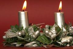 Χριστούγεννα κεριών Στοκ Φωτογραφία