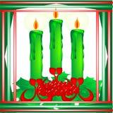 Χριστούγεννα κεριών απεικόνιση αποθεμάτων