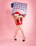 Χριστούγεννα κοριτσιών δώ& στοκ εικόνα με δικαίωμα ελεύθερης χρήσης